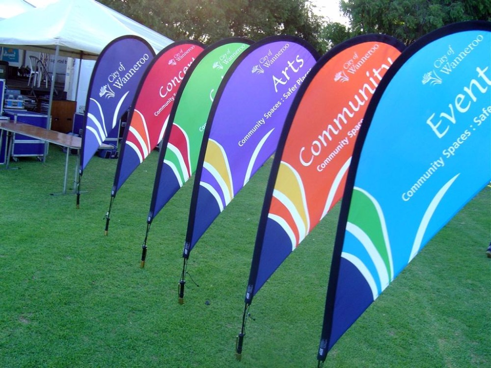 Cheap High Quality Custom Printing Waterproof Banner Flag Advertising Flag Beach Teardrop Flag