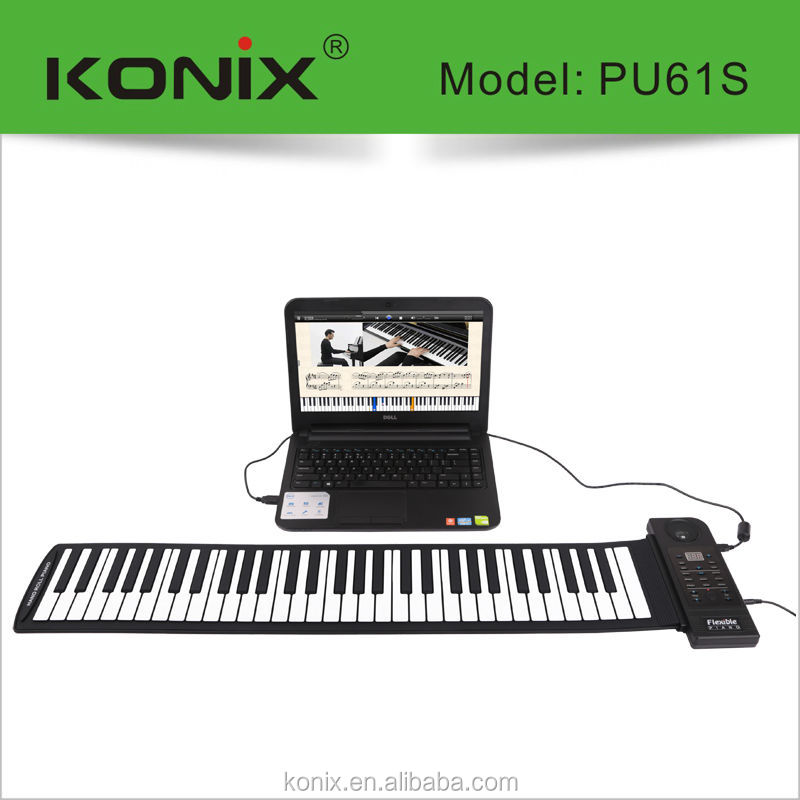 Soft 61 keys piano touch, tone and pedals are emulated at the highest level