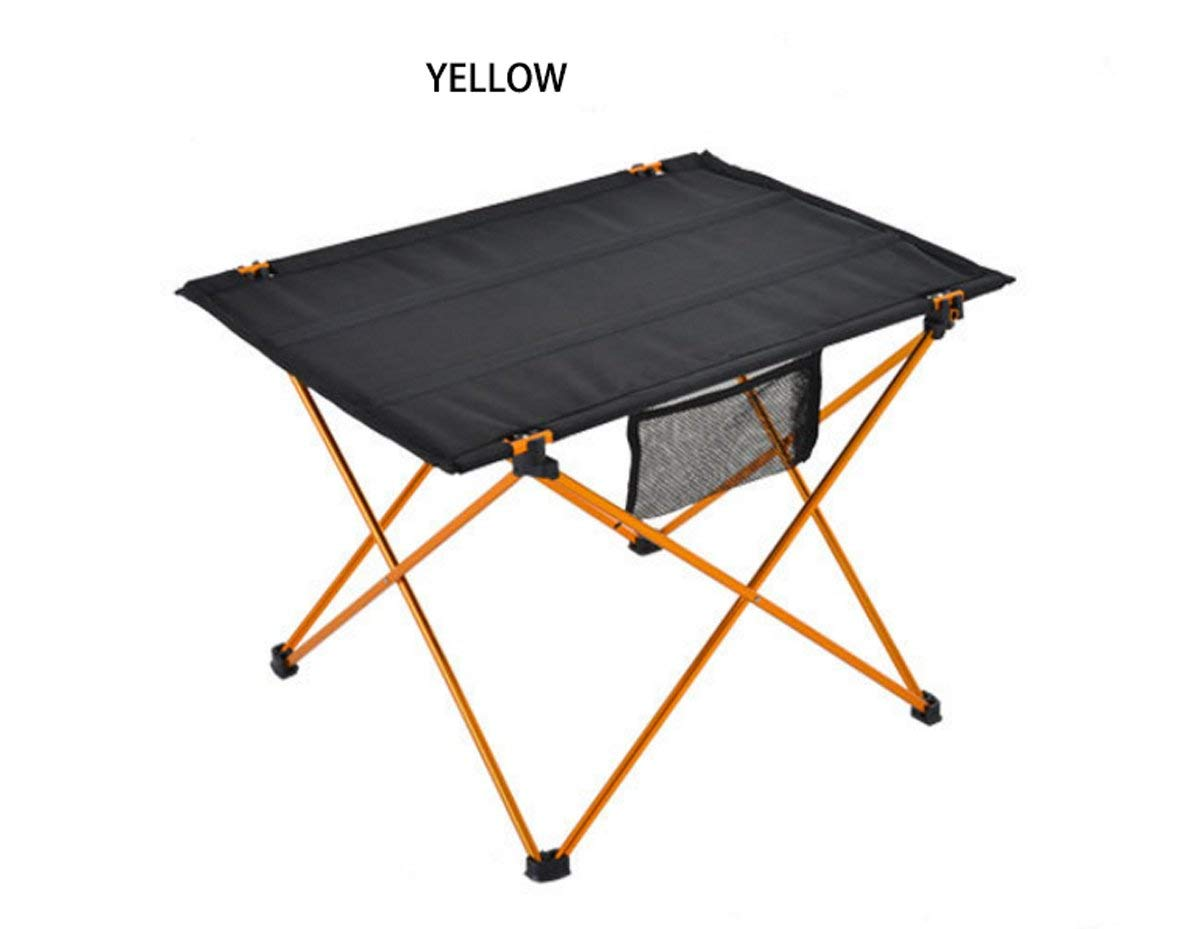 LHFJ Outdoor Camping Table Lightweight Folding Table Portable Aluminum Alloy Table For Outdoor Camping,picnic, BBQ Size 755553cm