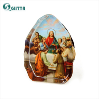 Glitta Fashion wedding gifts for guests,Jesus Crystal Christian Baptism Favors, Christianism crystal favors GG049