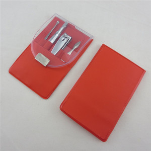PVC bag plastic manicure and pedicure instrument 4pcs manicure set