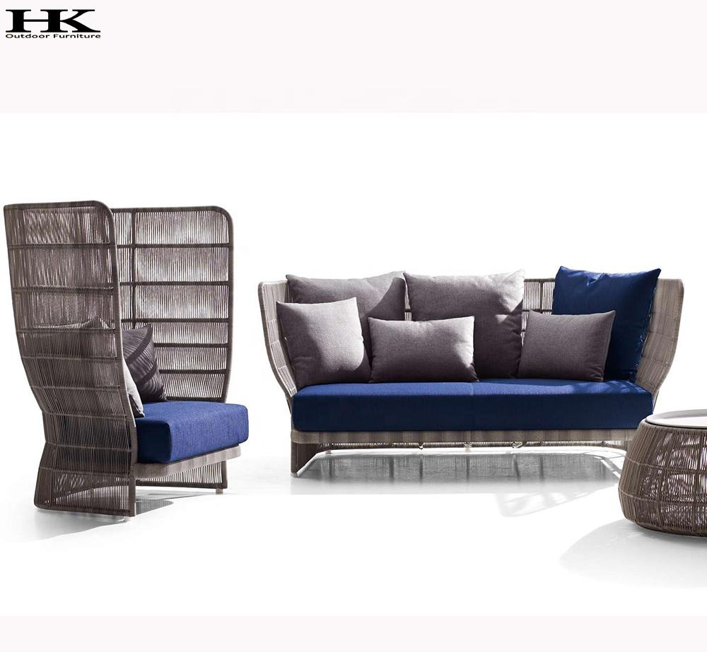 Outdoor Patio Couch Set, Hangkai Outdoor High Back Rattan Sofa Garden Sofa Set Buy Garden Sofa Outdoor High Back Sofa Set Rattan High Back Sofa Set Product On Alibaba Com