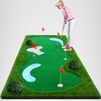 Protable Mini Golf Course Putting Mat For Office Set