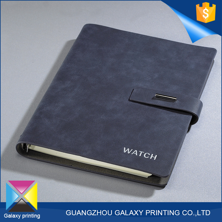 Best selling products diary <strong>book</strong> printing deep blue pu cover notebook with string