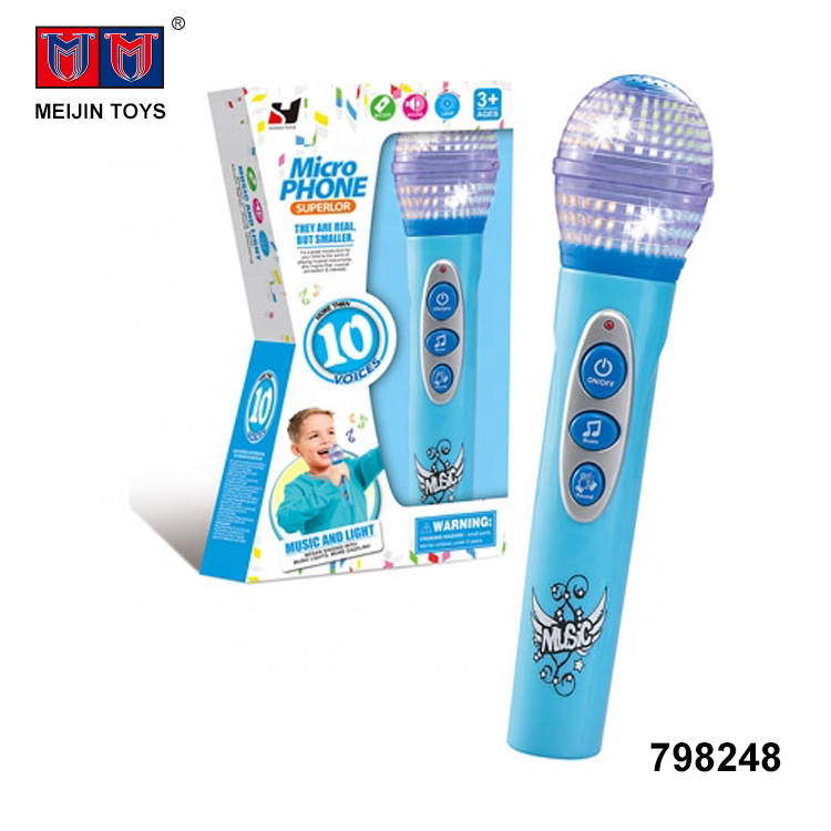 newest electronic lighting musical kids toy microphone for wholesale