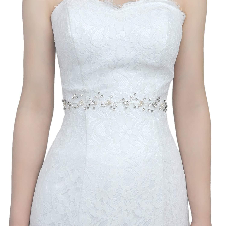 THK-Wedding Thin bridal sash belt,wedding belt,rhinestone belt for women, Bridal Belt Bridal Sash,