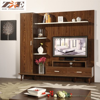 Alibaba Wood Led Tv Wall Unit Furniture Design Living Room Showcase