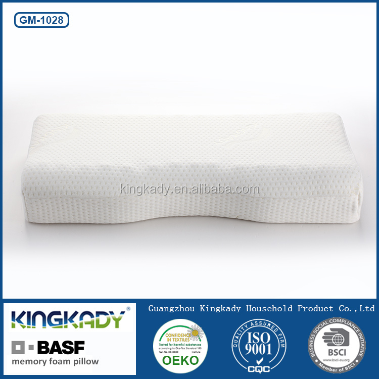 Handmade decorative anti snoring bamboo shredded memory foam pillow