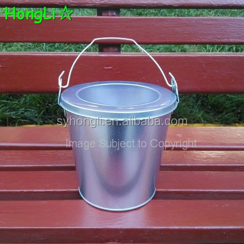 Leakproof Metal Tin Candle Bucket with PVC Clear Window Lid
