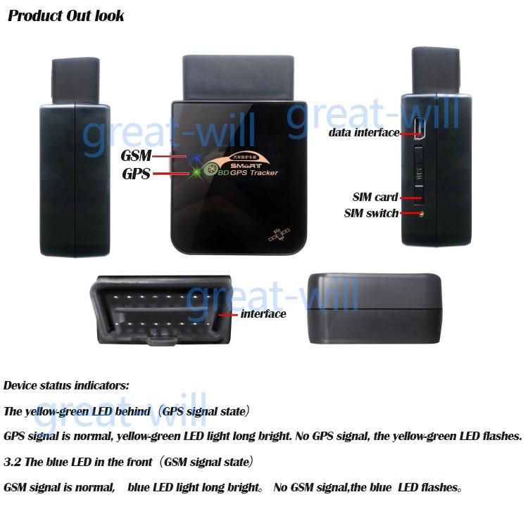 tr09 obd ii gps gprs gsm car vehicle tracker obd gps. Black Bedroom Furniture Sets. Home Design Ideas