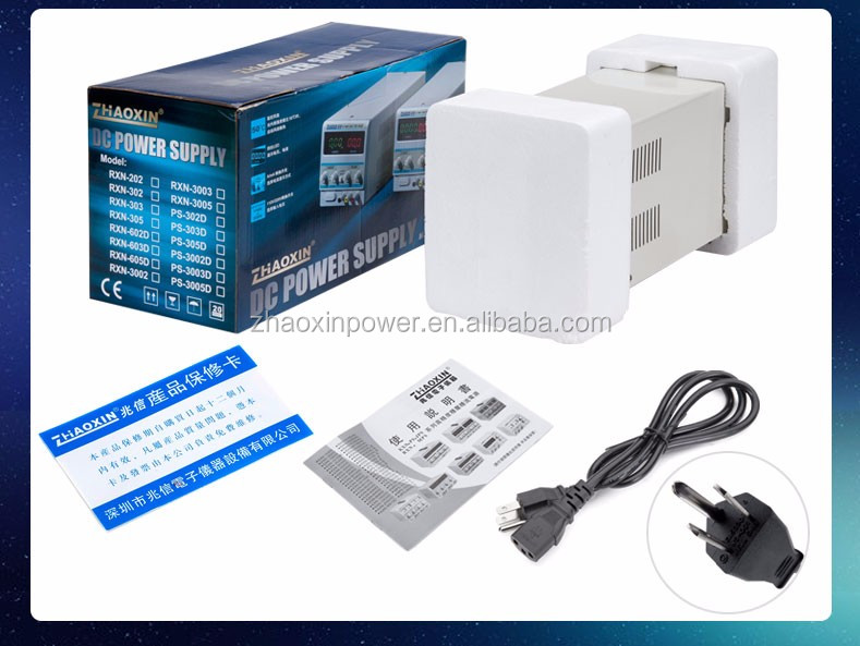 60V 5A RXN-605D Zhaoxin adjustable digital display linear dc power supply with CE approved