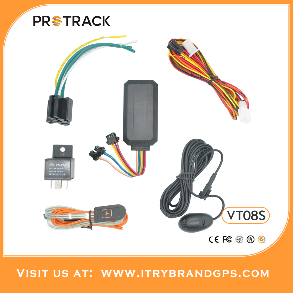 PROTRACK Easy installation Support real-time tracking history playback with ACC ignition car gps tracking device