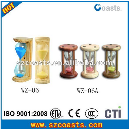 Quick production fast delivery sauna accessories wooden sand timer 15 minutes