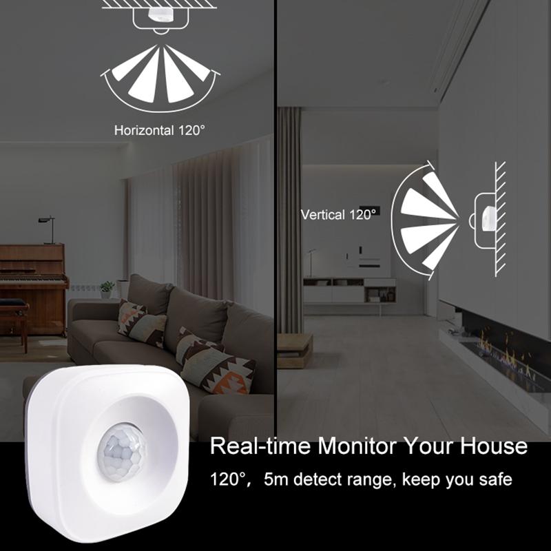Tuya Smart Life Wireless 433mhz Pir Alarm Sensor Motion Pir Sensor Infrared  Detector For Home Security Alarm - Buy Home Pir,Home Sensor,Security Alarm