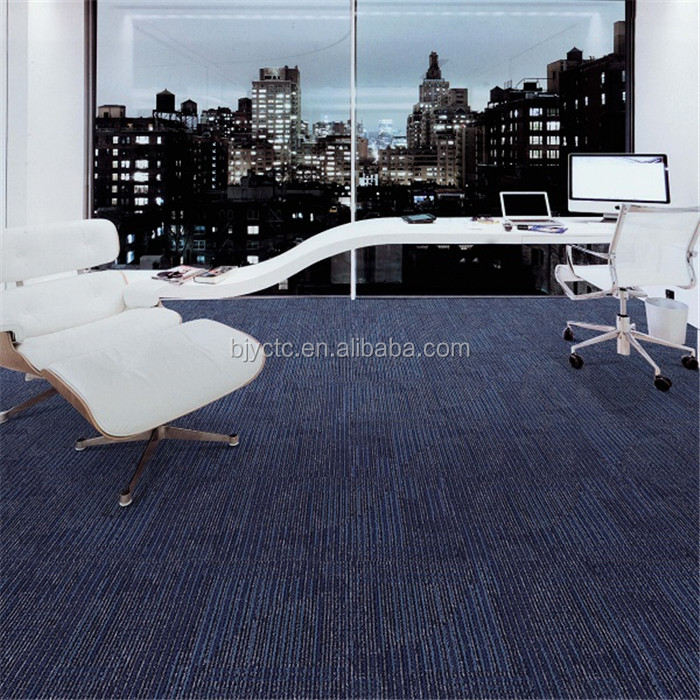 100% polypropylene printing flocking office tile carpet, price of carpet tile 50x50