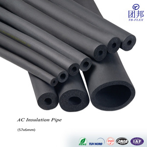 Neoprene Foam Rubber Thermal Pipe Insulation Types
