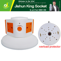 4 Way Power Extension Cord Socket With Switch, BS 3 Pin Electric Wall Switch With Socket Plug Outlet