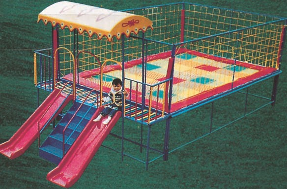 Cute Cheap Rectangle Baby Jumping With Slides Trampolines