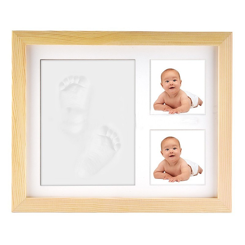 2019 Newborn Boys and Girls Baby Footprint and Handprint Photo Frame Keepsake