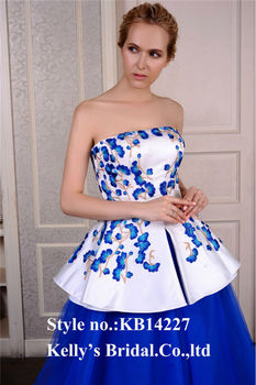Embroidered Bodice And Blue Tulle Skirt big Ball Gown Of Burgundy