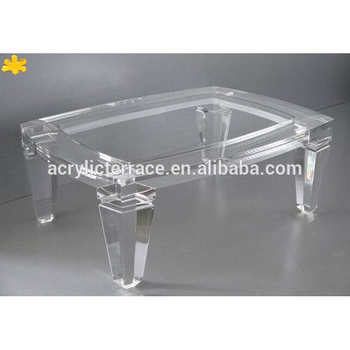 2021410110 Acrylic Lucite Coffee Table Tappred Legs Buy Glass