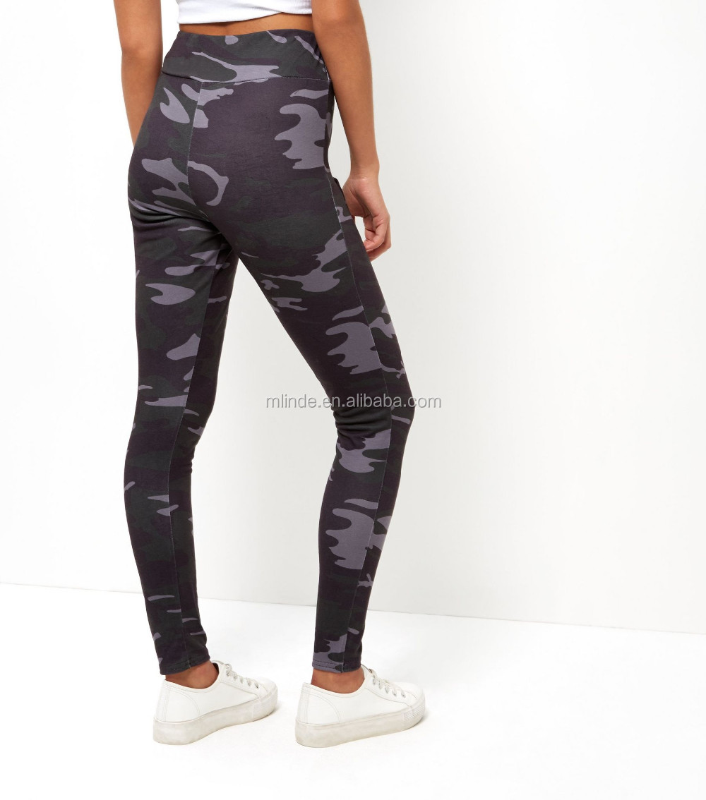 Guangzhou Clothing Manufacturer Black Camo Print Leggings Fabric Army Trousers Stretch Fabric For Leggings