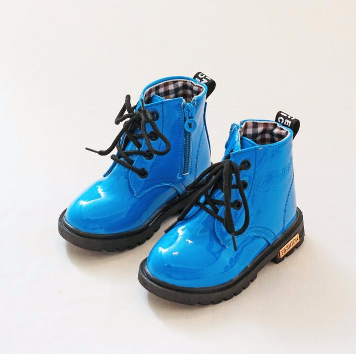 fc42c467ff32f Kids PU Leather Boots Teen Boys Girls Spring Shoes Children Martin  Motorcycle Boots Chaussure Enfant Waterproof Ankle Rain Boots - us316