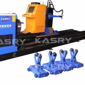 Wastewater treatment industry CNC plasma pipe processing machine carbon steel pipe hole cutting machine