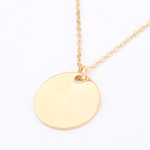 European and American street style fashion simple sequins Disc Necklace