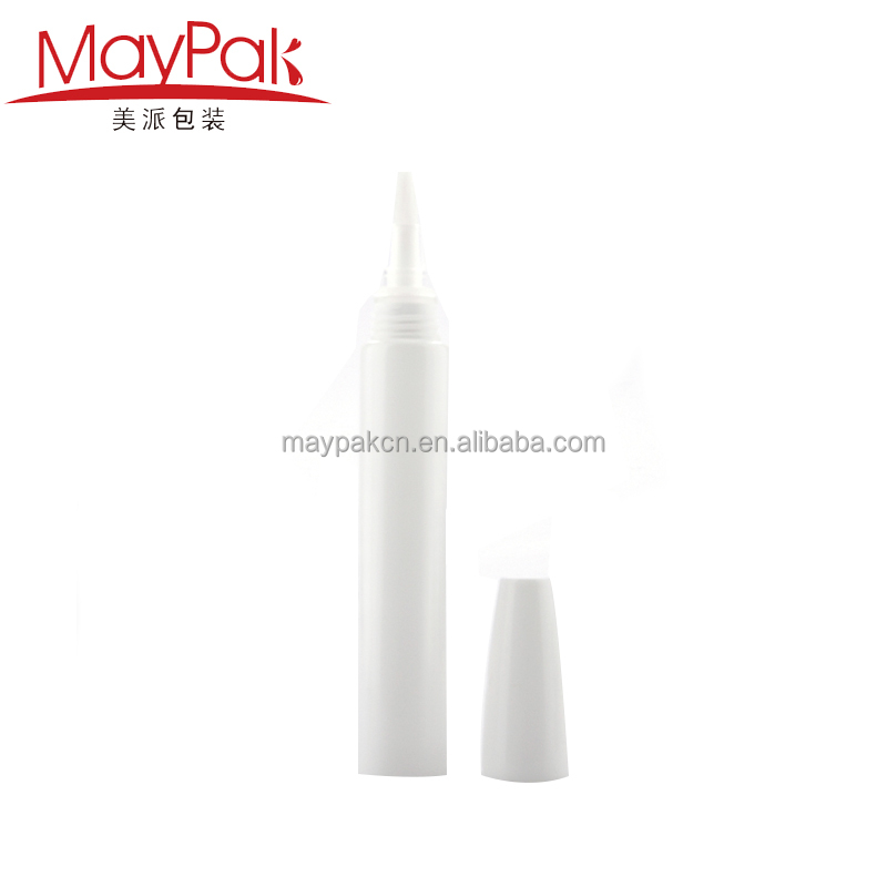 Made in China cosmetic 8ml plastic tube with sponge tip applicator