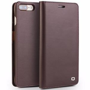 QIALINO Brand 2017 Ultrathin Card Slots Genuine Leather Flip Case For iPhone 7, For iPhone 7 Leather Case Wallet