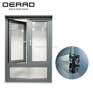 Casement French Aluminum Window for Residence