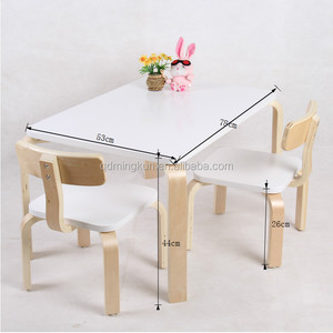 The Best Bent Wood Children Furniture Kids Wooden Table And Chairs kids Study Table And Chair