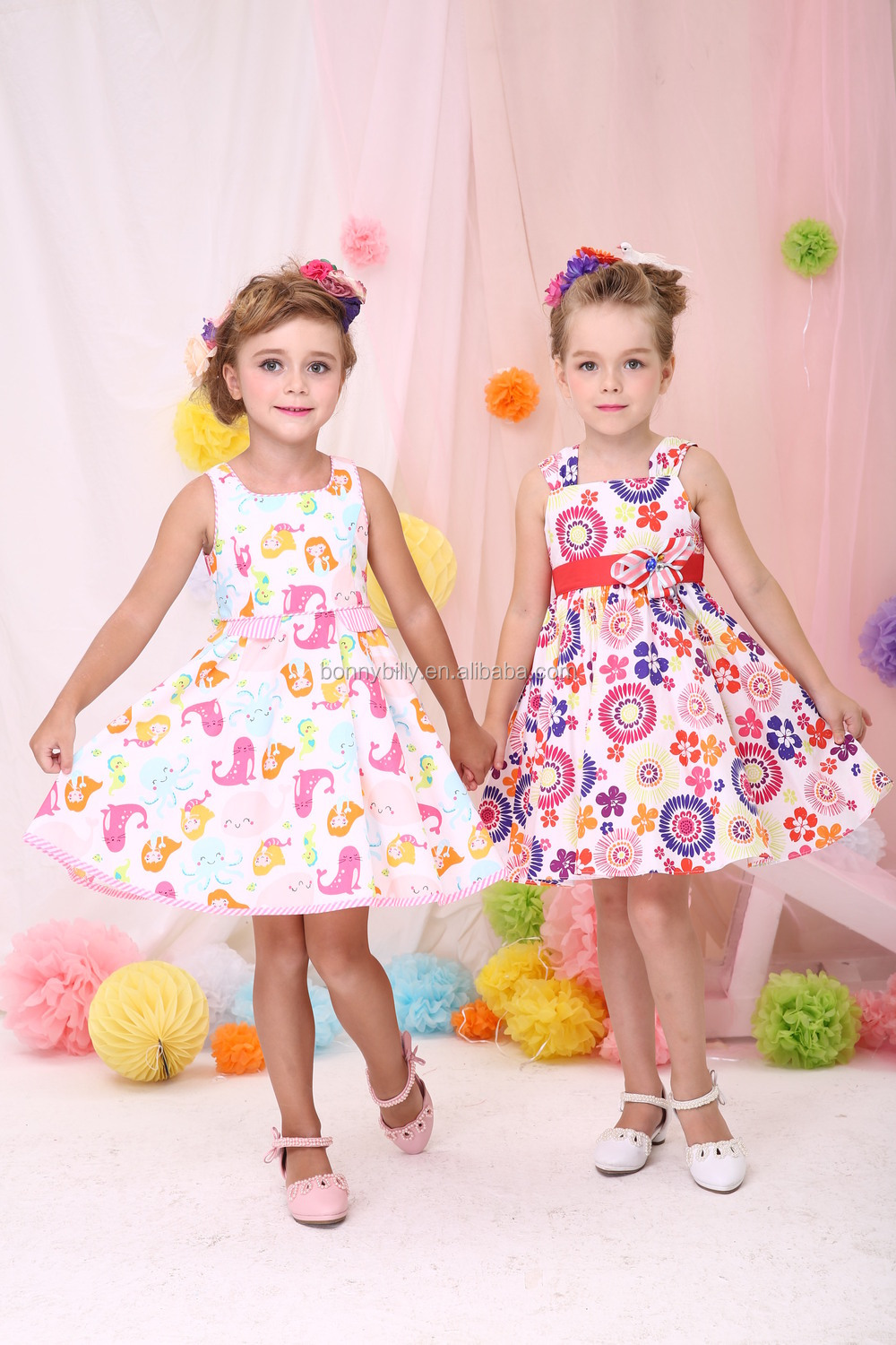 Pattern Printed Baby Frock Designs In Child Clothes,Flower Girl ...