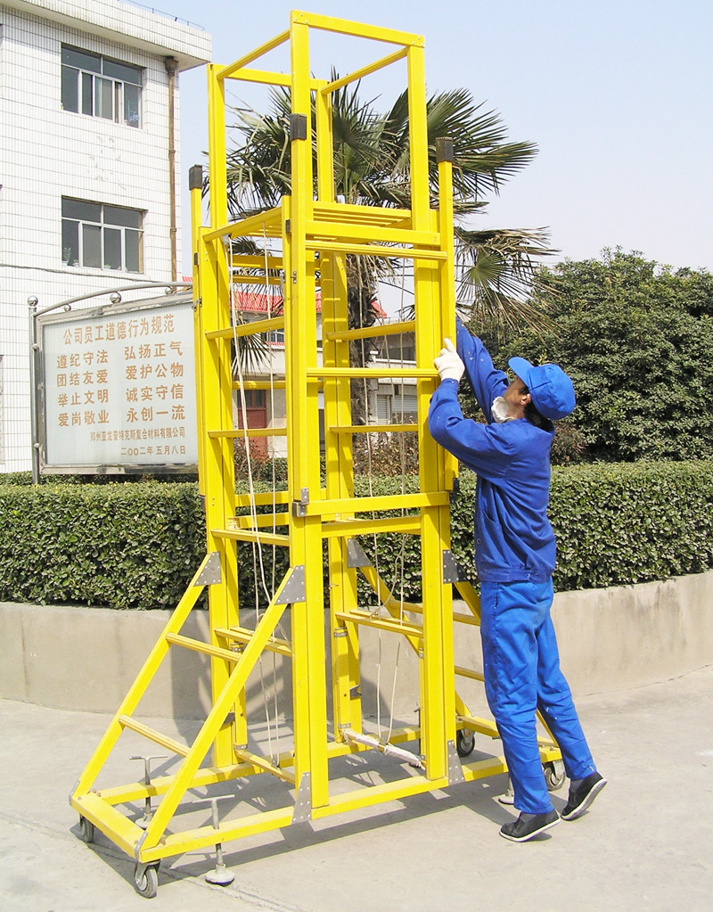 Frp Tower Extension Ladder Fiberglass Mobile Ladder Plastic Ladder With Wheels Buy Frp Tower Extension Ladder Folding Extension Ladder Fiberglass Mobile Ladder Product On Alibaba Com