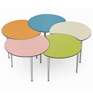 New Style Moon Shape Collaborative Communication Table School Furniture for Psychological Classroom
