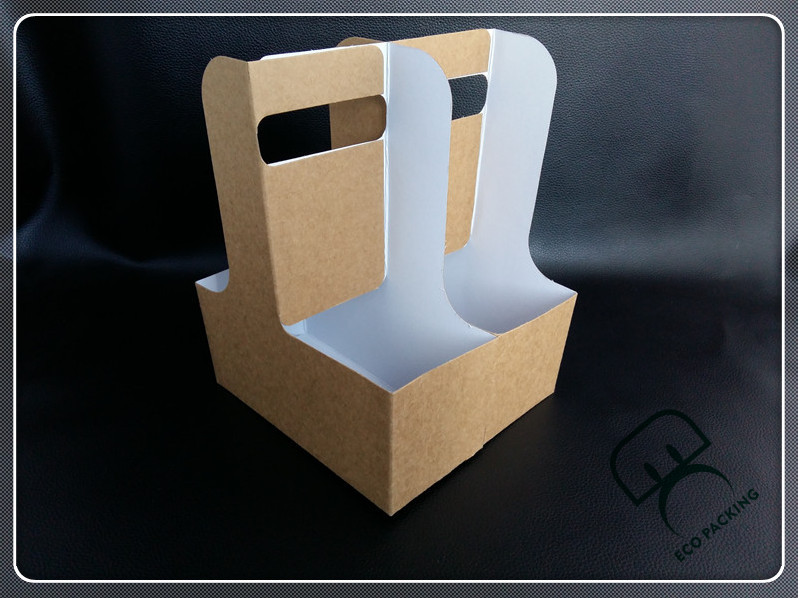Detachable Cup Holder With Handle Paper Cup Carry Tray