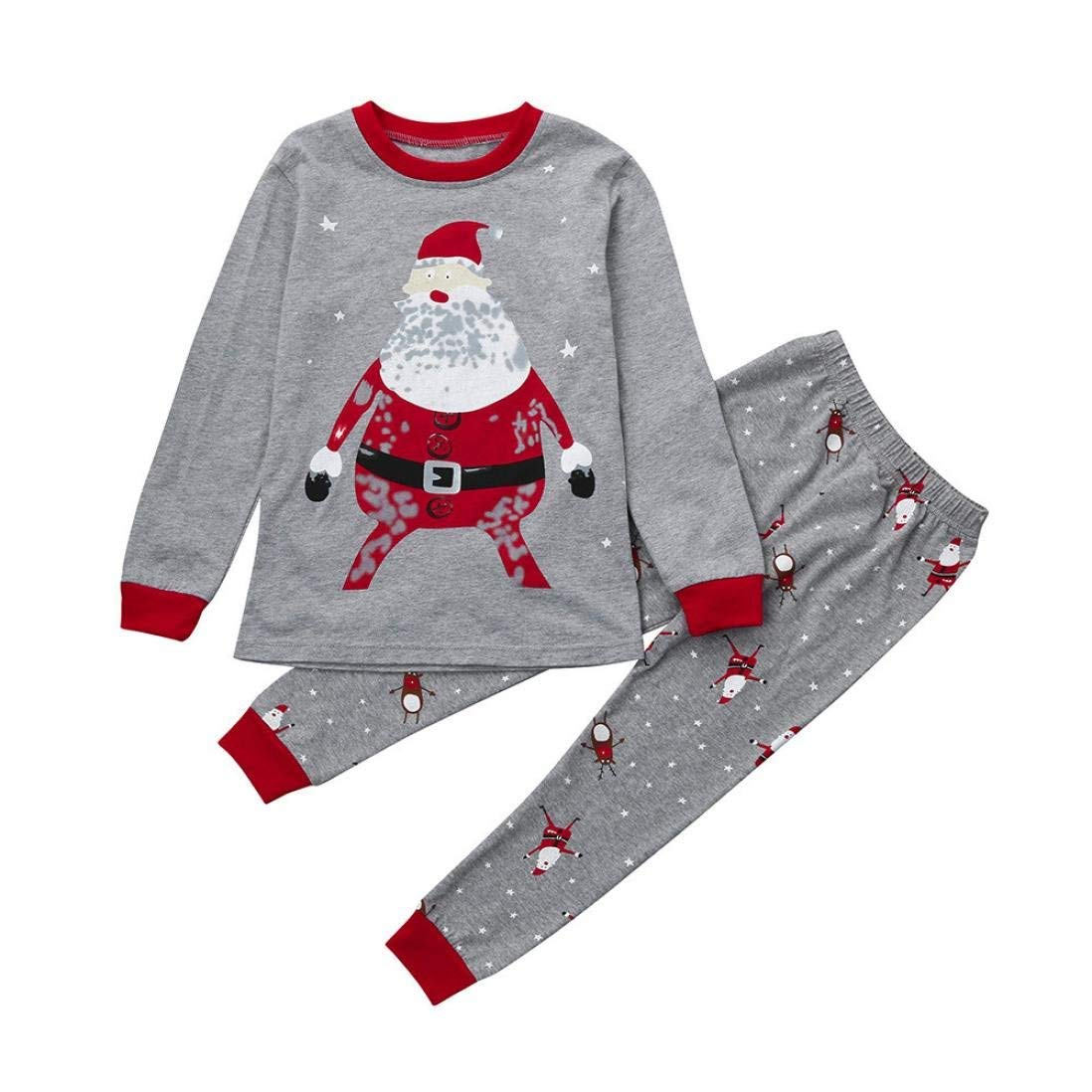 03af996a82dfa Get Quotations · Kimanli Christmas Newborn Infant Baby Boys Girls  Tops+Pants Pajamas Outfits Set