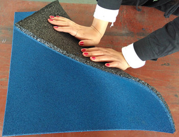 Riciclare gomma piastrelle mattonelle di pavimentazione in gomma