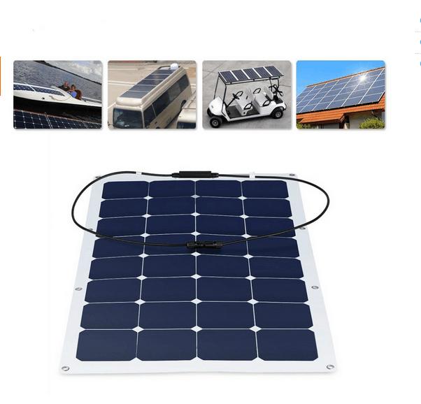 2017 Hot High Efficiency Sunpower Cell Semi Flexible Solar