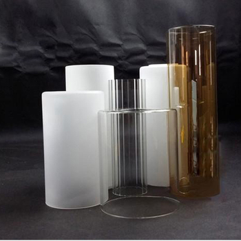 Hanging blown cylindrical lamp shade frost glass tube for lamp