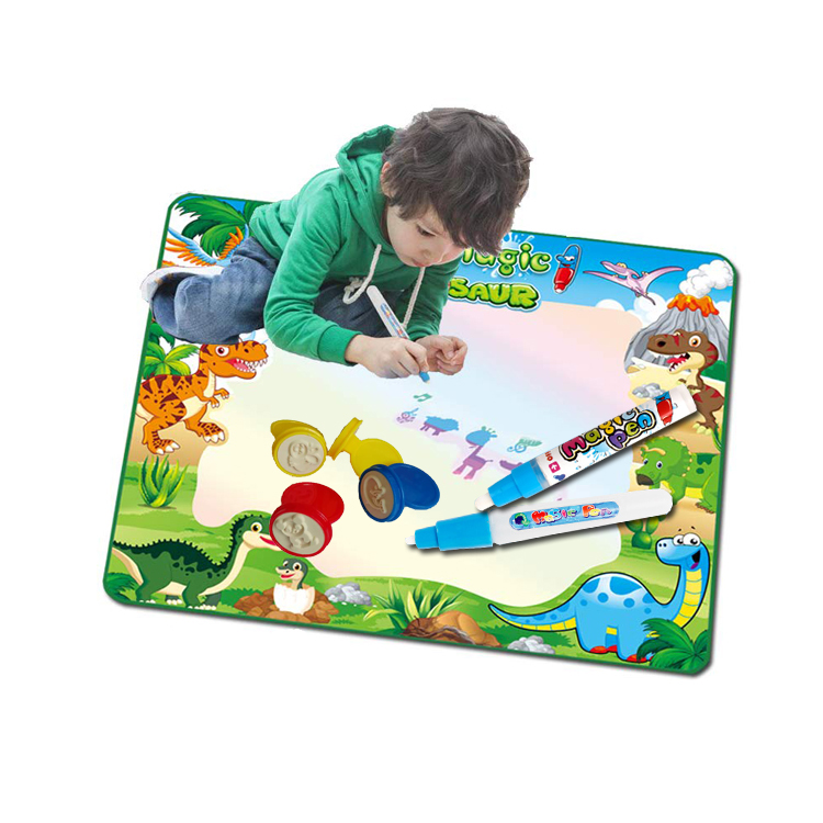 fashion design doodle education painting coloring mat kid magic water drawing book