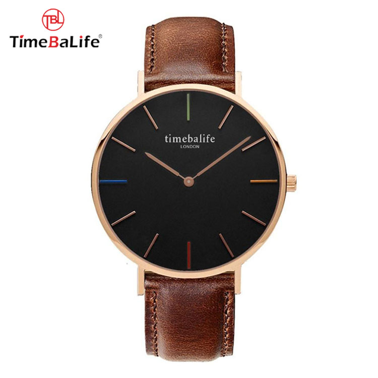 2018 Minimalist Business Quartz Movt Waterproof DW Style Leather Wrist Watches For <strong>Men</strong>