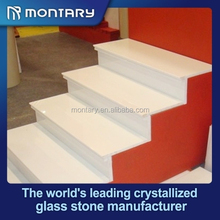 white nano crystal marble stair step