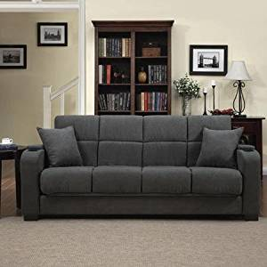 Super Tyler Microfiber Storage Arm Convert A Couch Sofa Sleepr Bed Gray Designed With A Storage Area And Cup Holder Built Into Each Arm Ocoug Best Dining Table And Chair Ideas Images Ocougorg