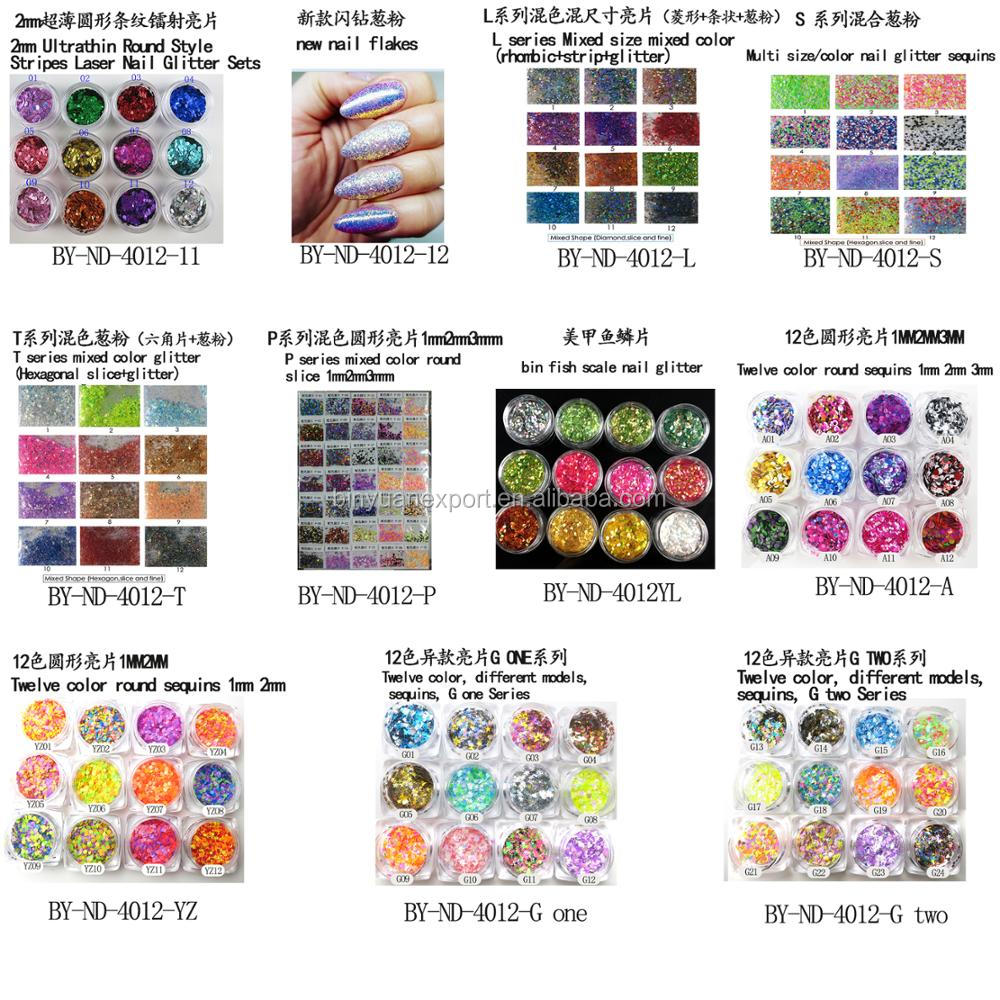 2018 newstyle 12colors round colorful nail art decoration