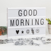 High Quality USB A4 Size Cinematic LED Light Box Marquee Mini Signage Emoji Cinema LightBox With Changeable Letters And Symbols