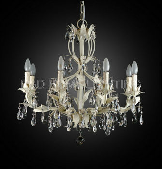 Traditional french provincial chandelier white leaf 8 lights buy traditional french provincial chandelier white leaf 8 lights aloadofball Gallery