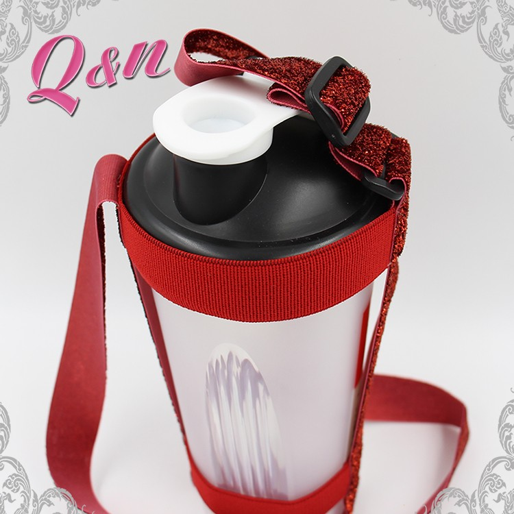 Neck strap kid insulated water bottle holder with strap