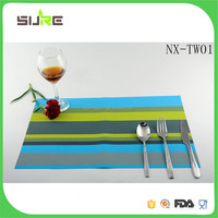 Best seller custom design promotional woven pvc tablemats wholesale